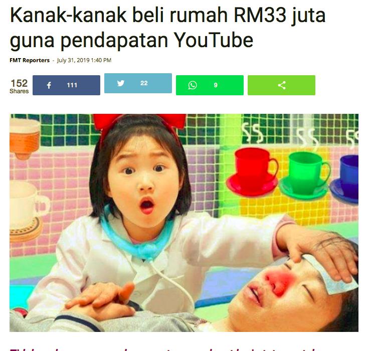 beli rumah RM33 juta hasil dari youtube